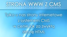 Strona z systemem CMS